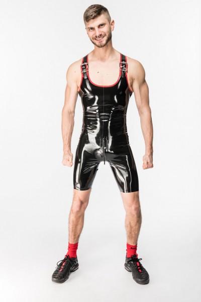 Wrestlingbody mit Schnallenträger