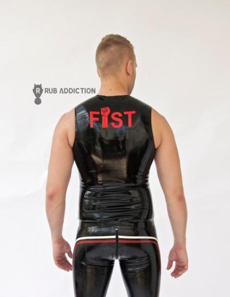 Shirt - Ärmellos, Schriftzug Fist