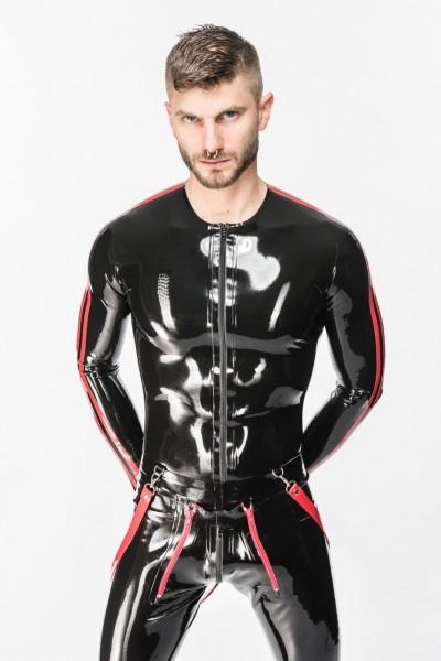 Shirt - Langarm mit Frontreißverschluss